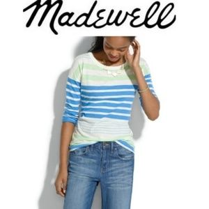 Madewell Easy Tee Stripestack Top M